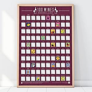 Affisch Bucketlist 100 Viner